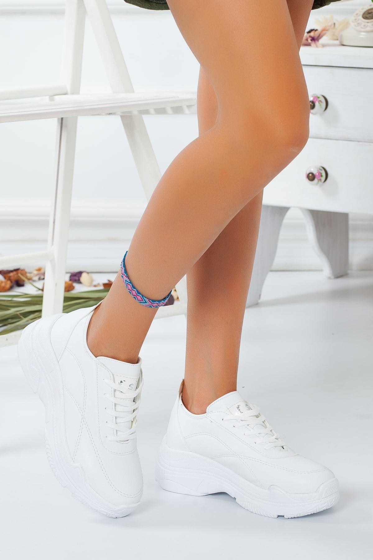 Buena Beyaz Cilt Kadın Spor Ayakkabı