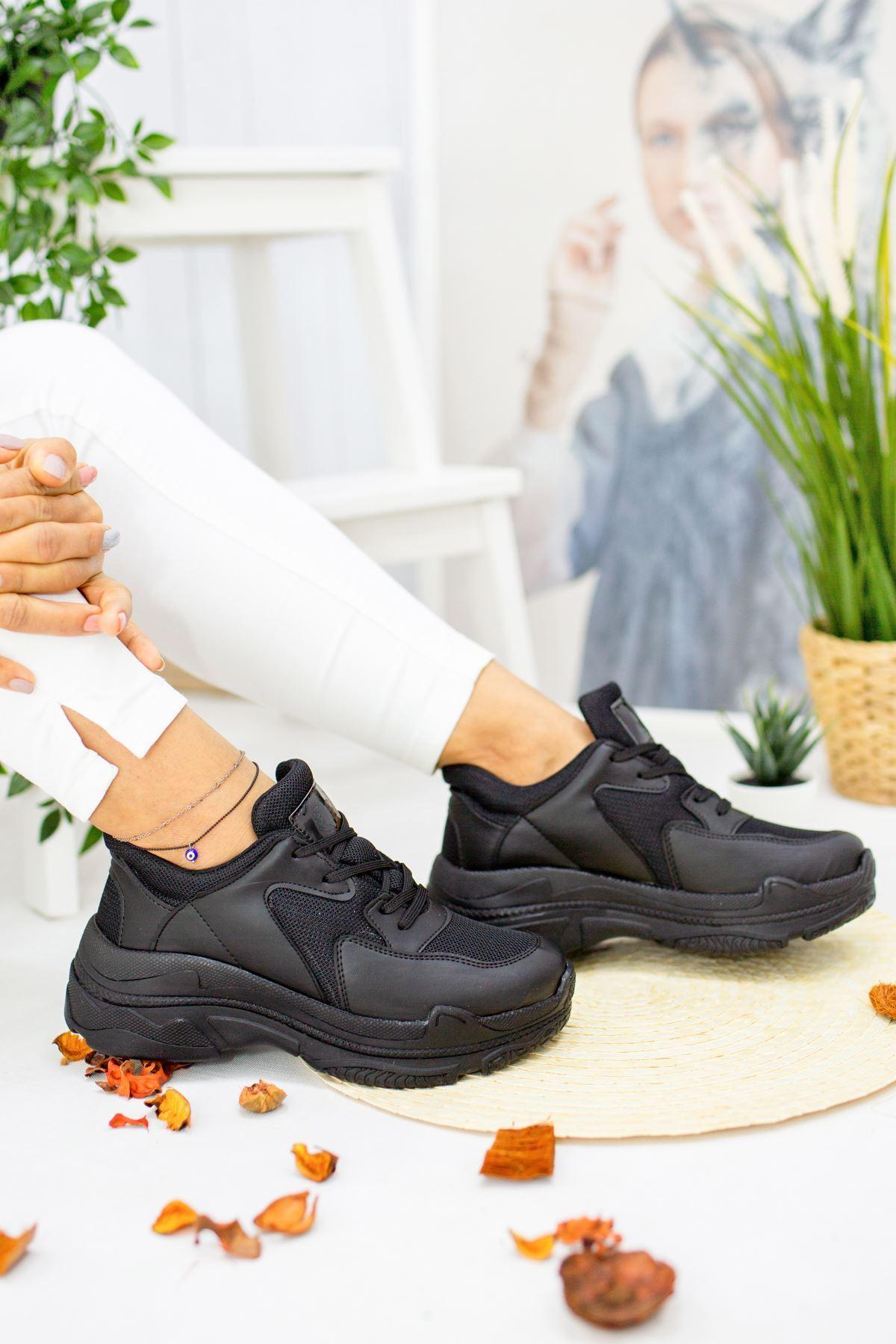 Loic Siyah Kadın Spor Ayakkabı