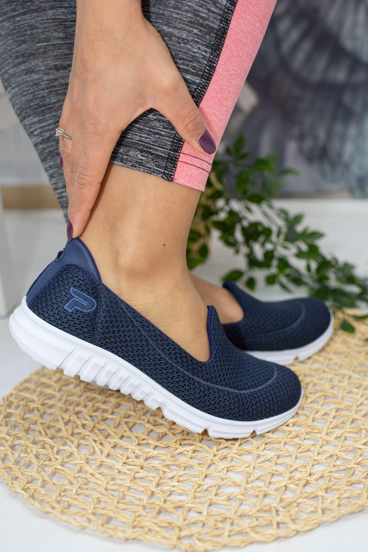 West Lacivert Kadın Günlük Ayakkabı