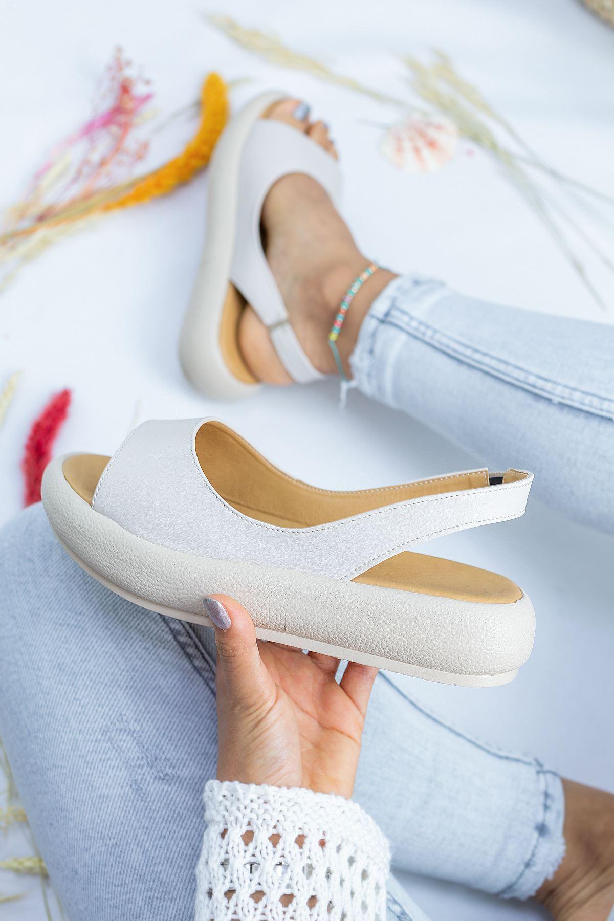 Alex Krem Cilt Kadın Sandalet