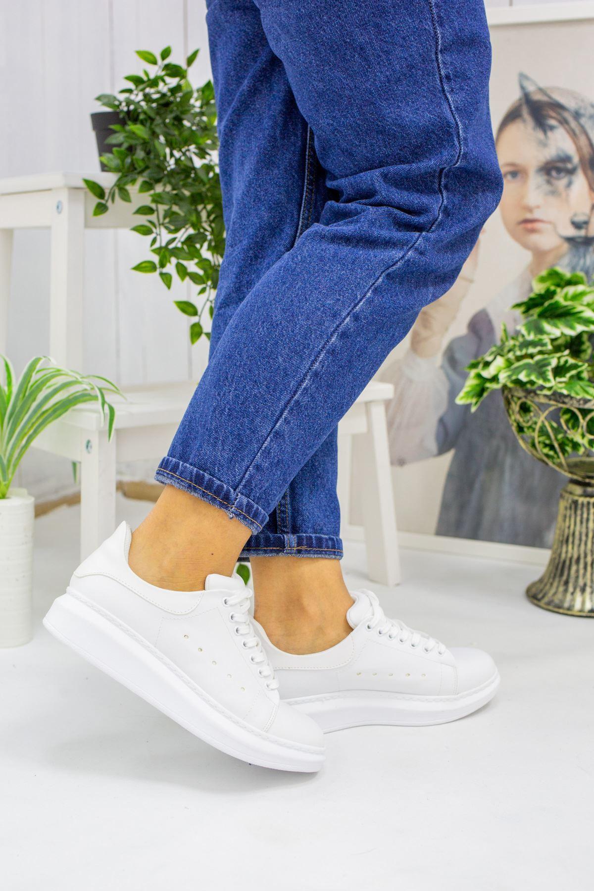 Clara Beyaz Cilt Kadın Spor Ayakkabı