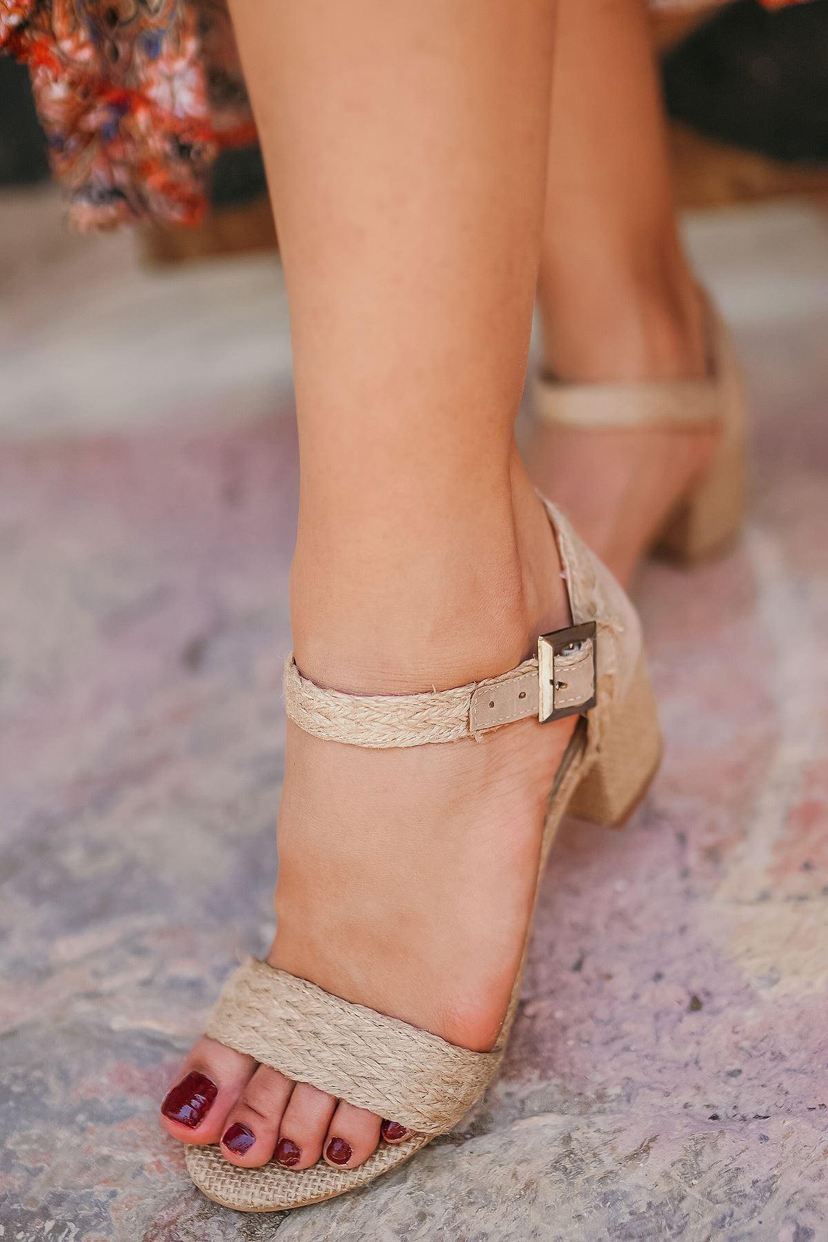 Deborah Hasır Topuklu Kadın Ayakkabı
