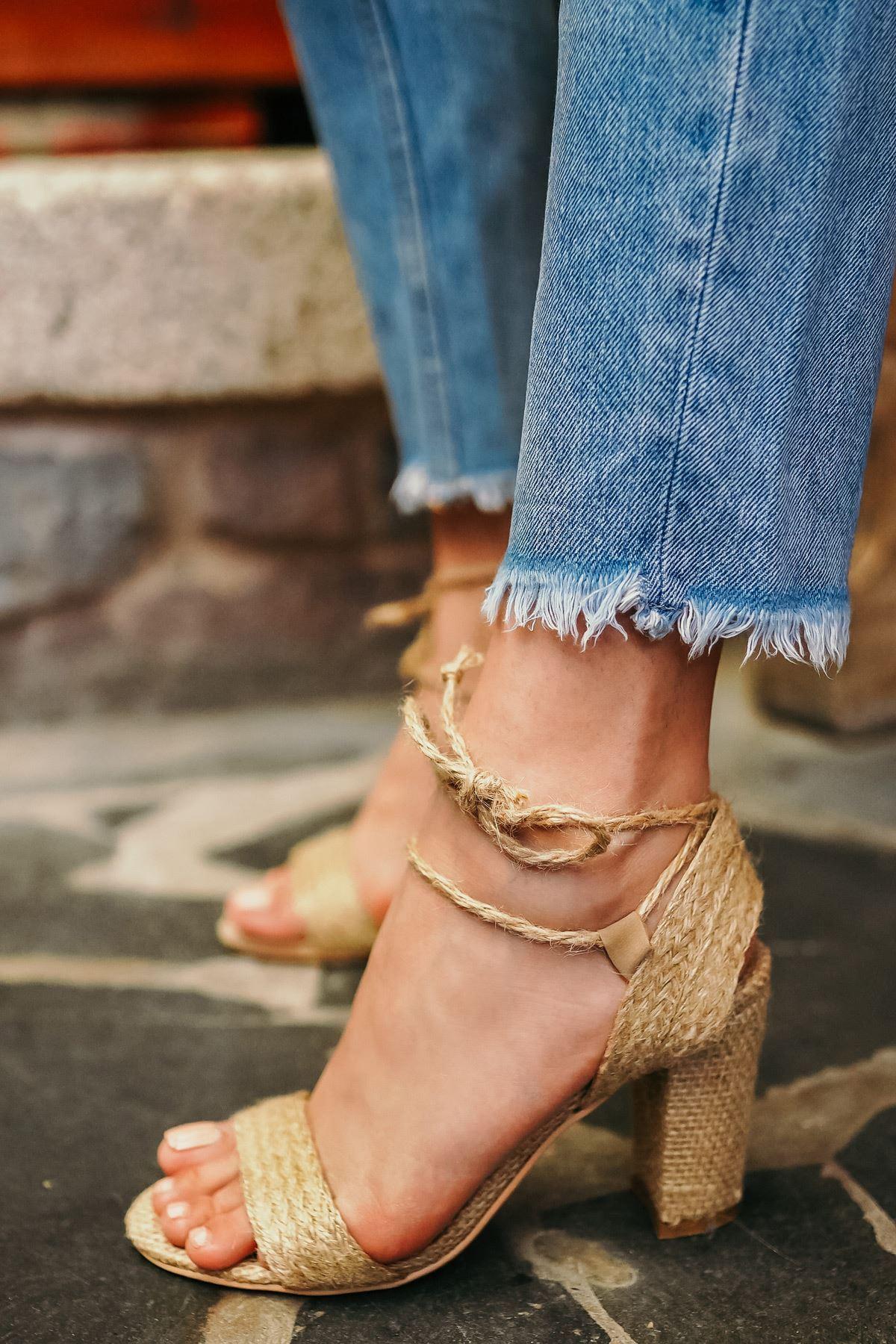 Camellia Hasır Topuklu Kadın Ayakkabı