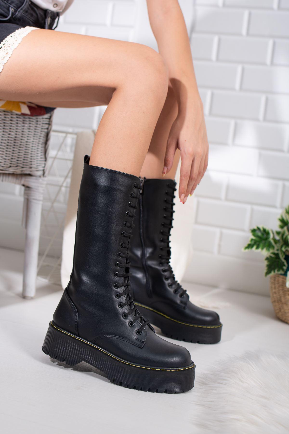 Lacey Siyah Kadın Çizme