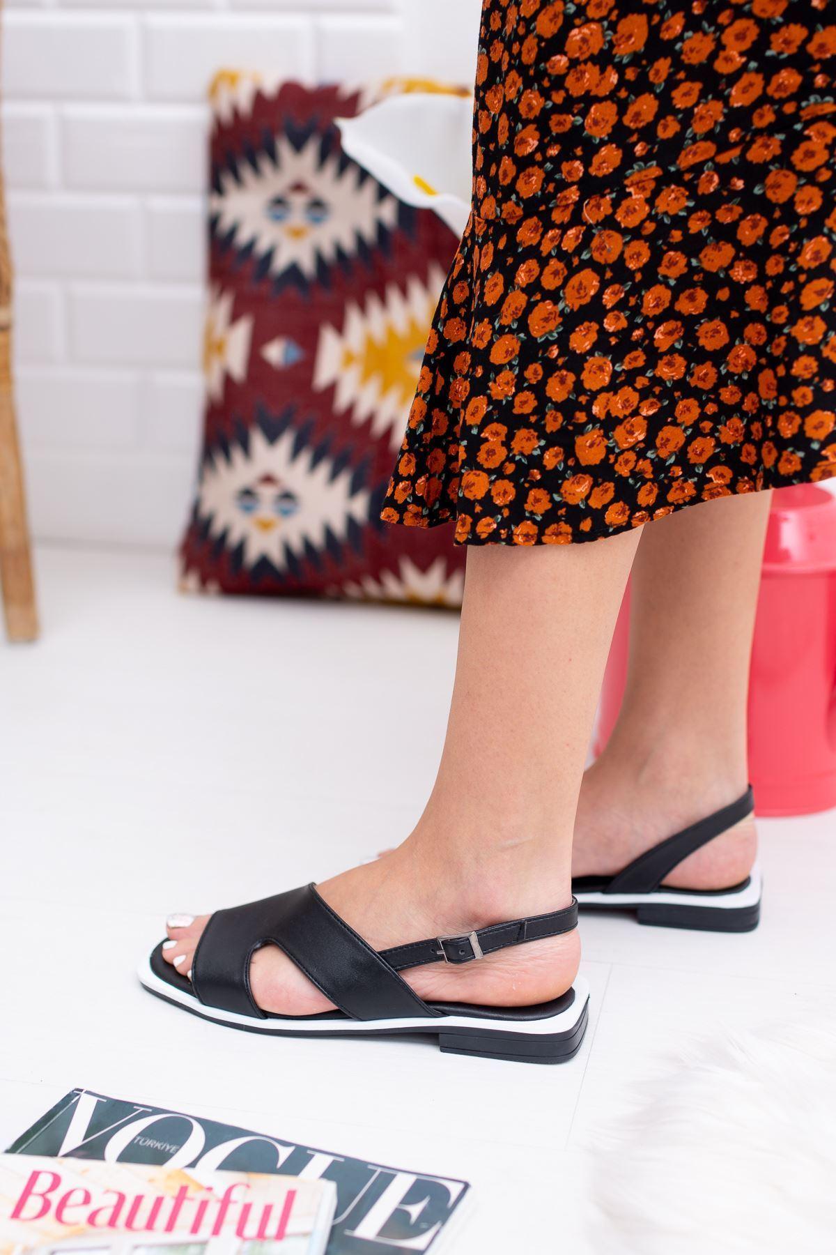 Liana Siyah Kadın Sandalet