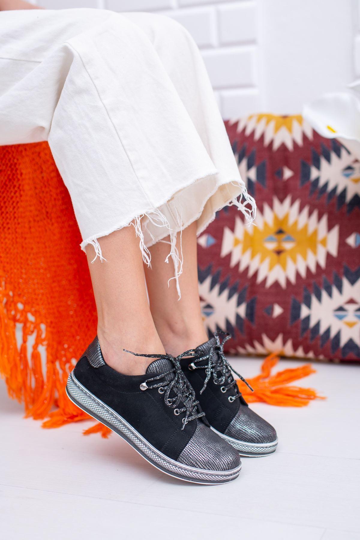 Fiona Siyah Kadın Günlük Ayakkabı