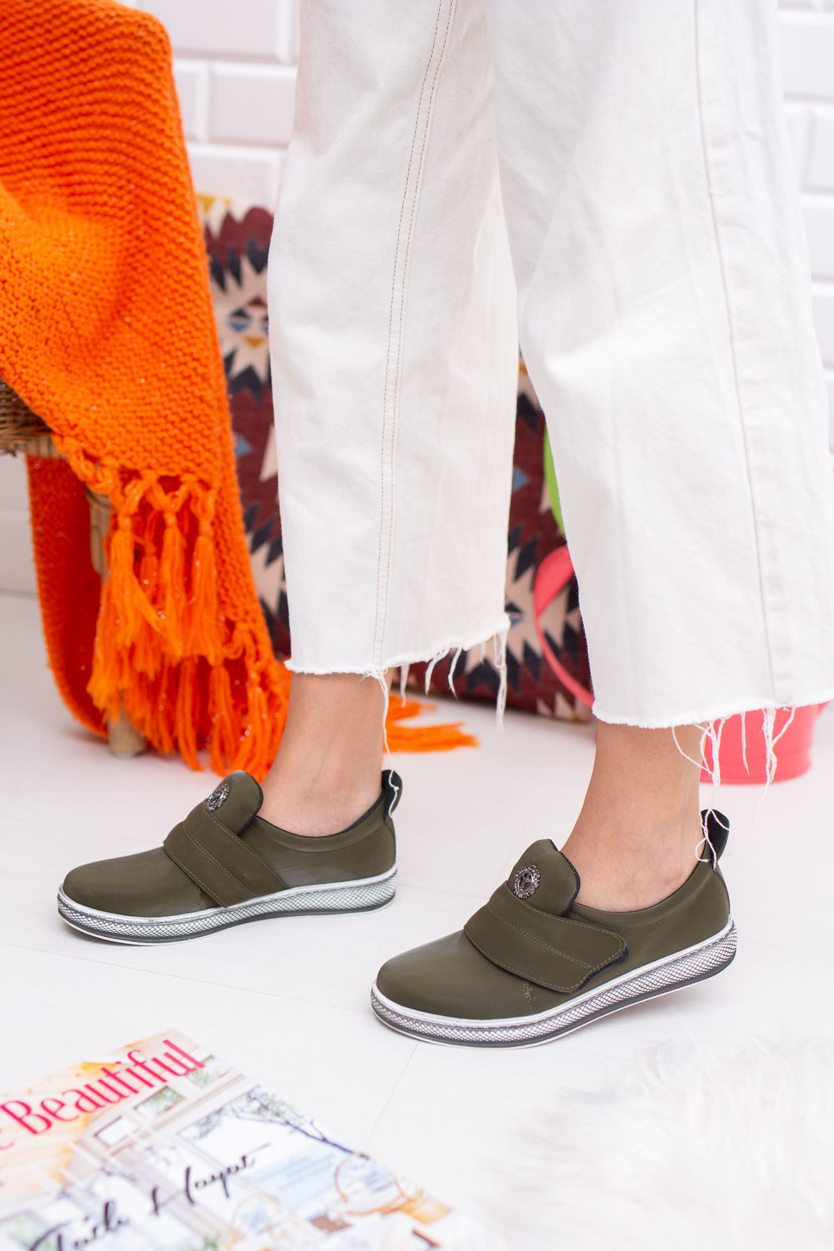 Greta Yeşil Kadın Günlük Ayakkabı