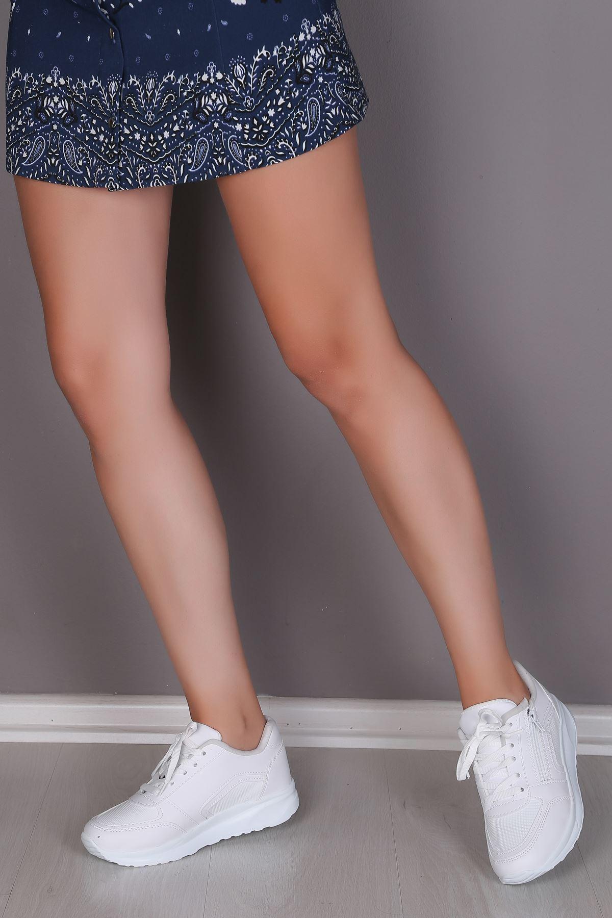 Gloria Beyaz Kadın Spor Ayakkabı
