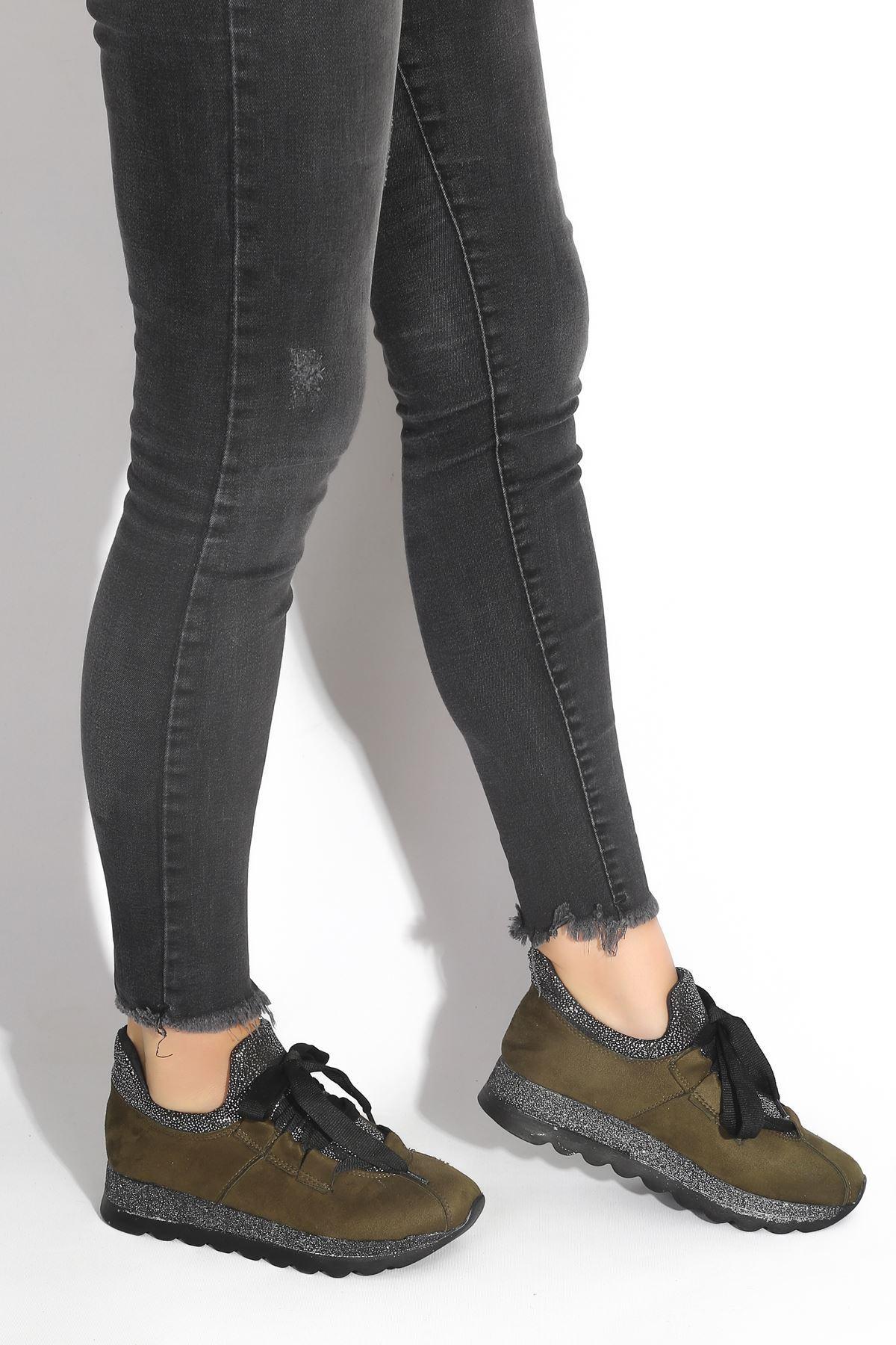 Hudson Yeşil Süet Kadın Spor Ayakkabı