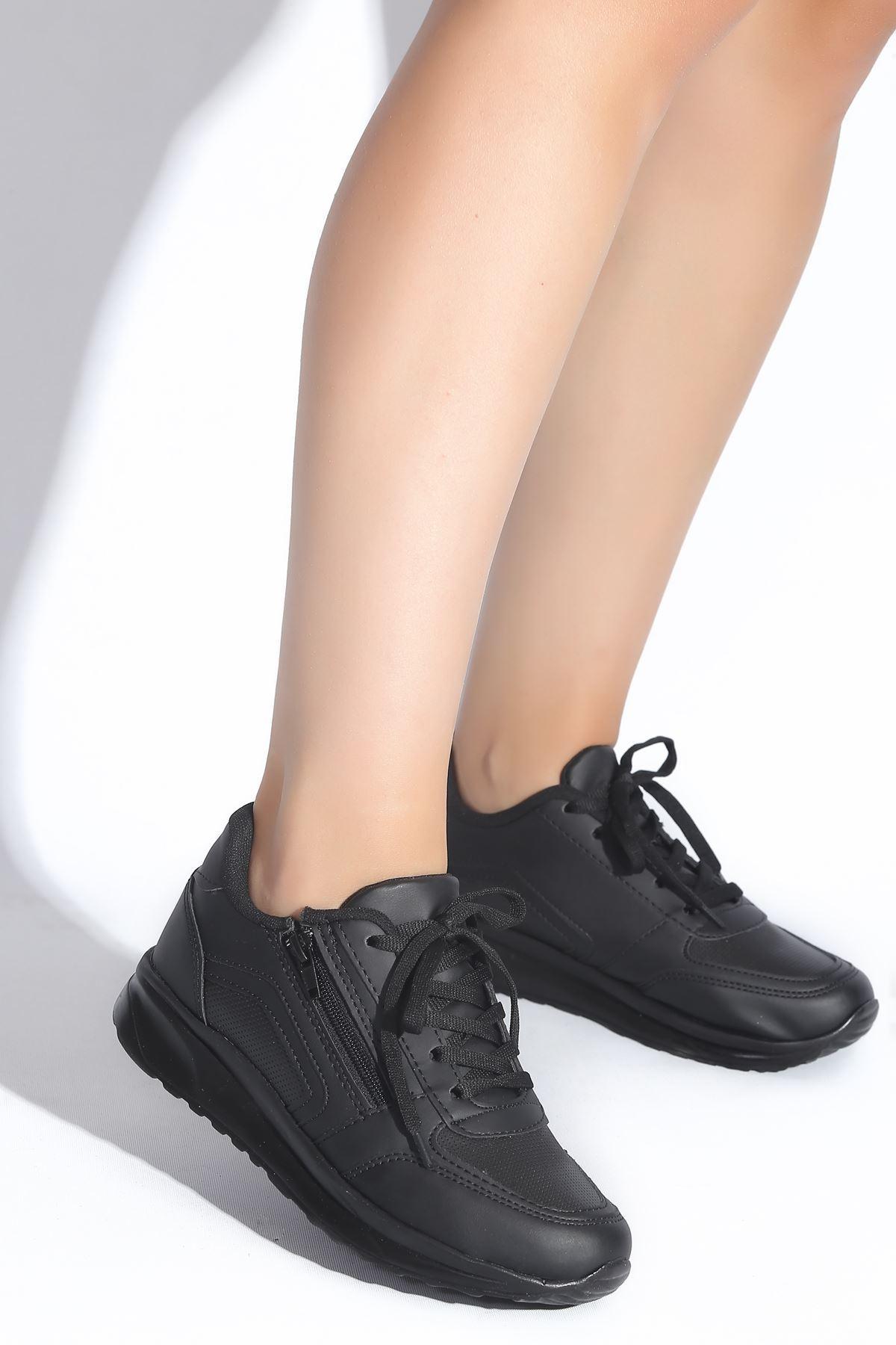Gloria Siyah Kadın Spor Ayakkabı