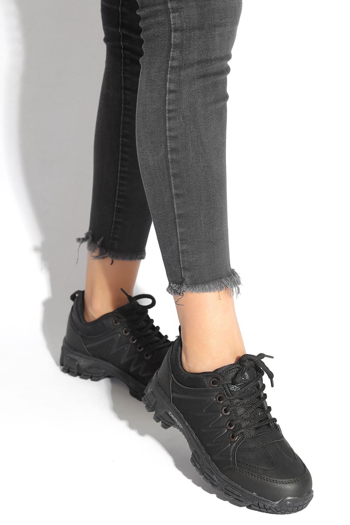 Jaden Siyah Kadın Spor Ayakkabı