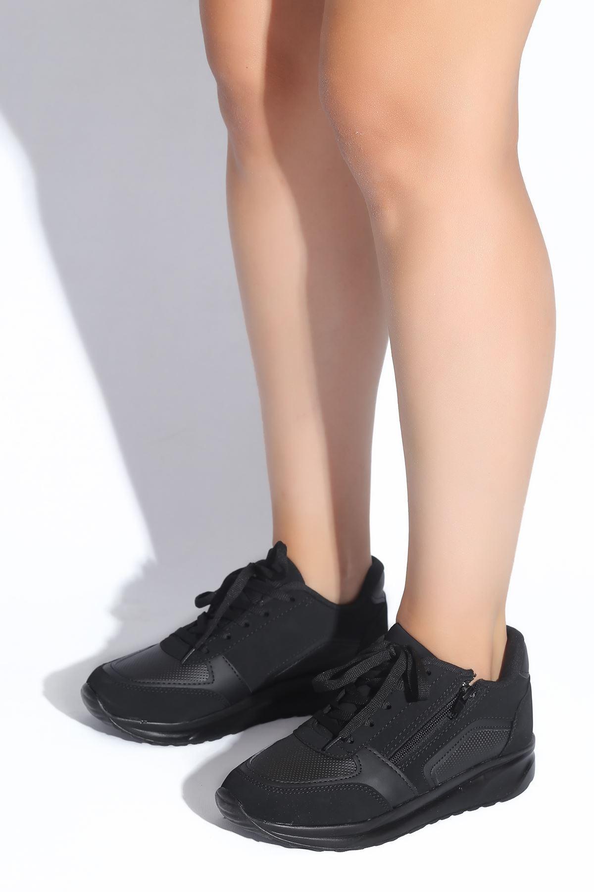 Gloria Siyah Süet Kadın Spor Ayakkabı