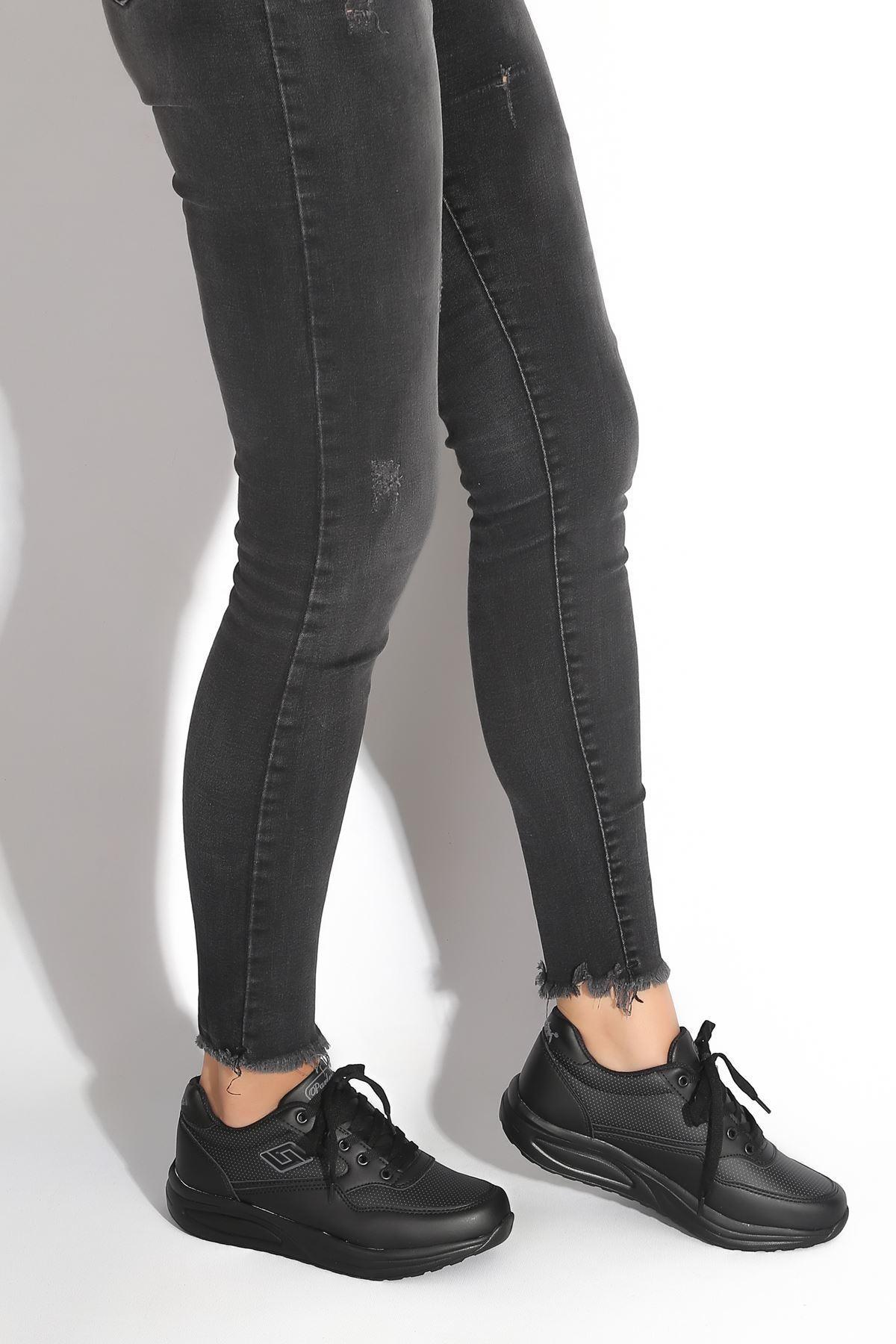 Lara Siyah Kadın Spor Ayakkabı
