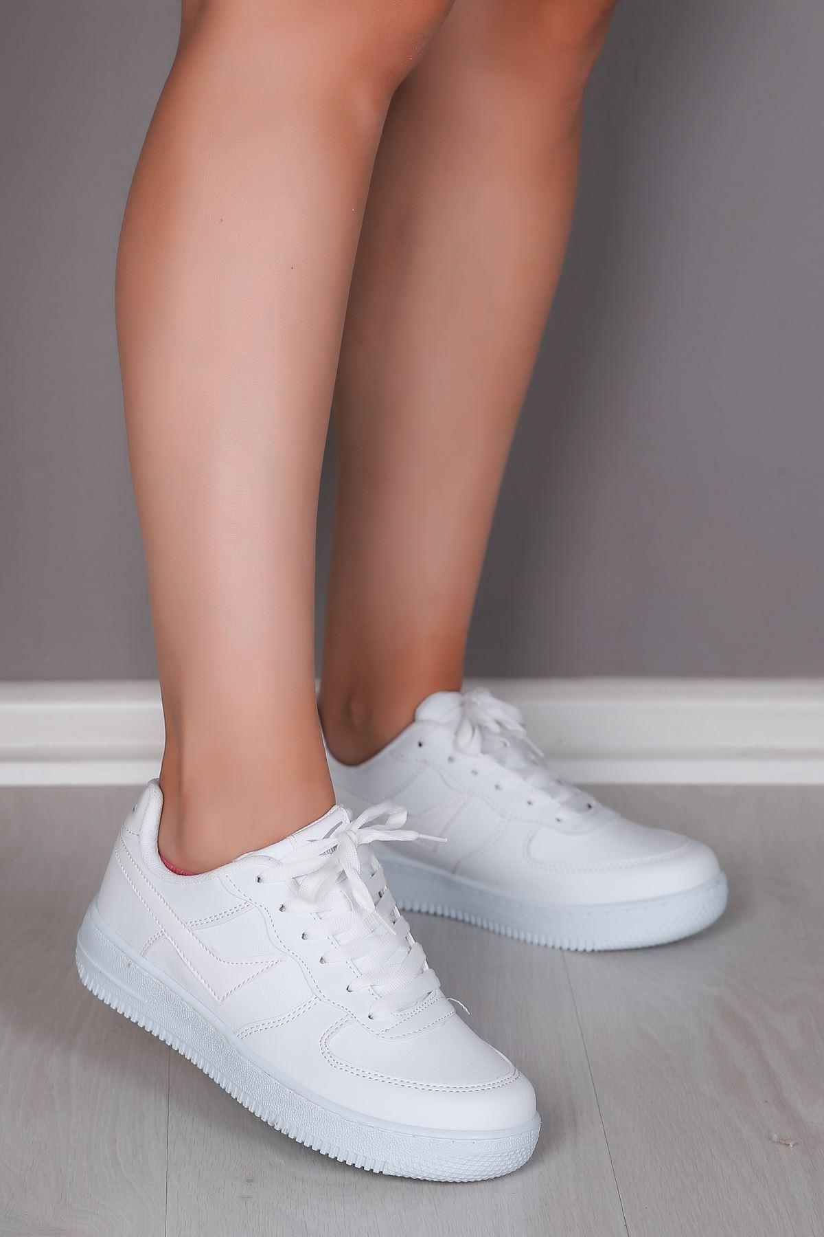 Paula Beyaz Kadın Spor Ayakkabı