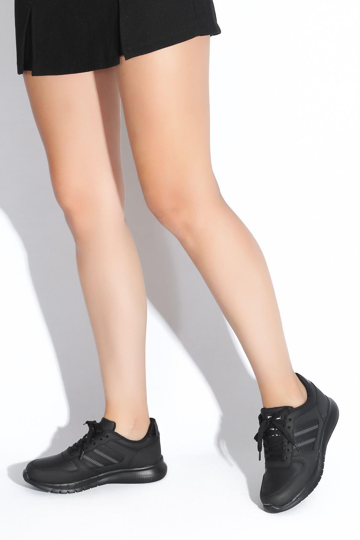 Erin Siyah Kadın Spor Ayakkabı