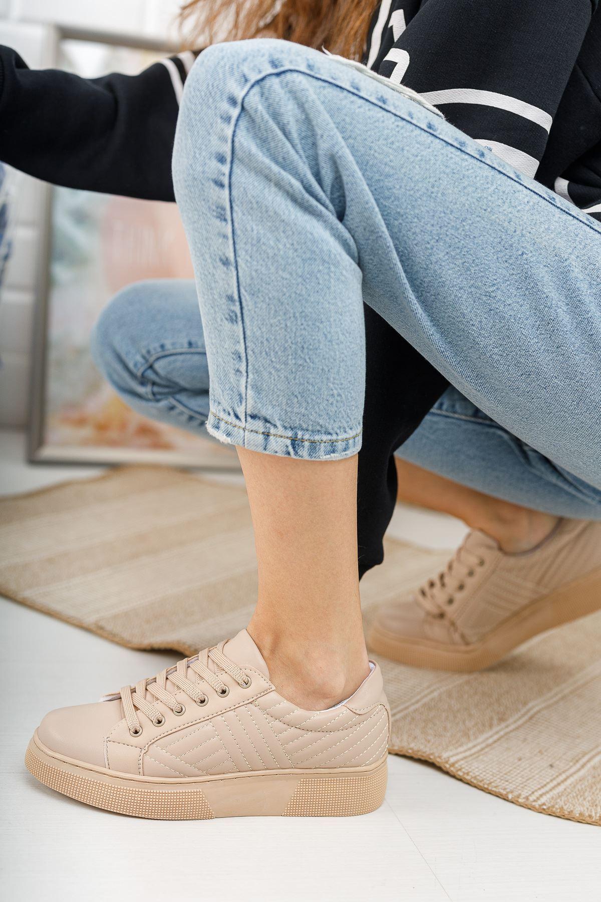 Marita Kapitoneli Bağcıklı Vizon Spor Ayakkabı