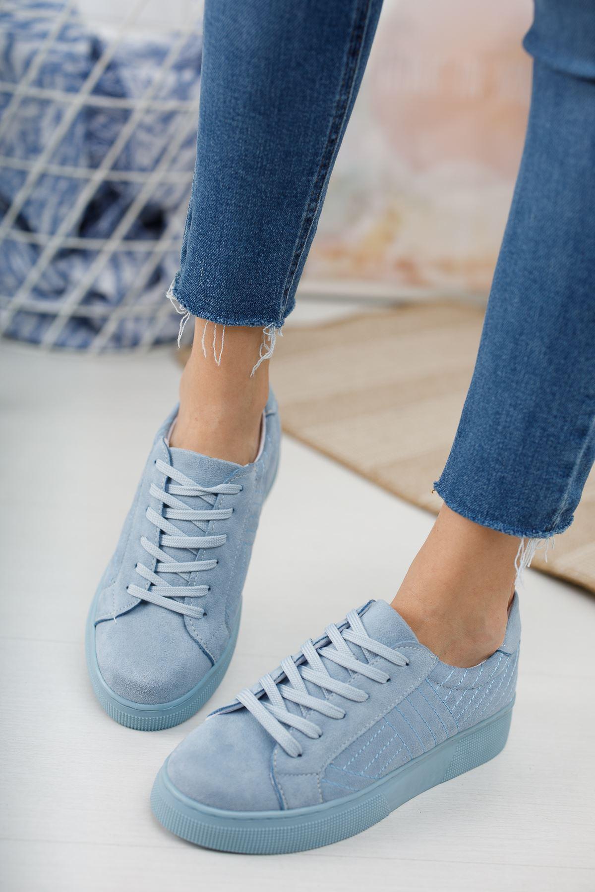 Marita Kapitoneli Bağcıklı Bebe Mavi Spor Ayakkabı