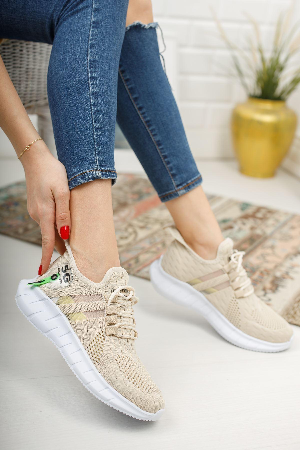 Mirella Vizon Triko Bağcıklı Kadın Spor Ayakkabı