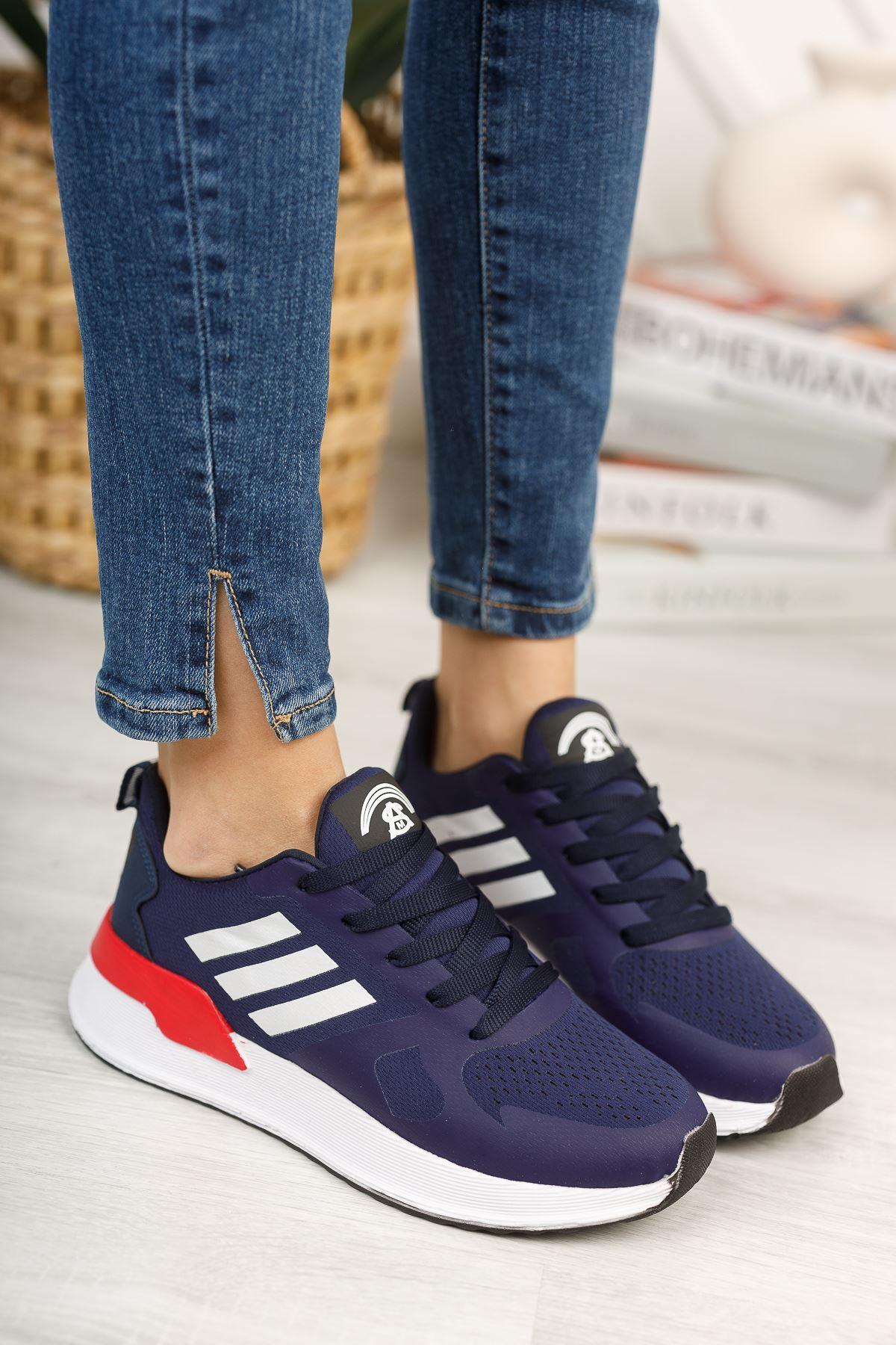 Emma Lacivert Bağcıklı Kadın Spor Ayakkabı
