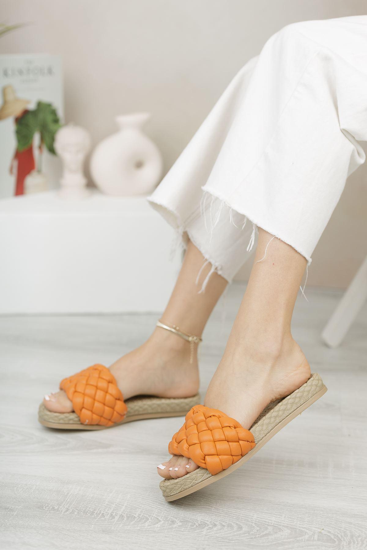 Feline Oranj Kadın Terlik