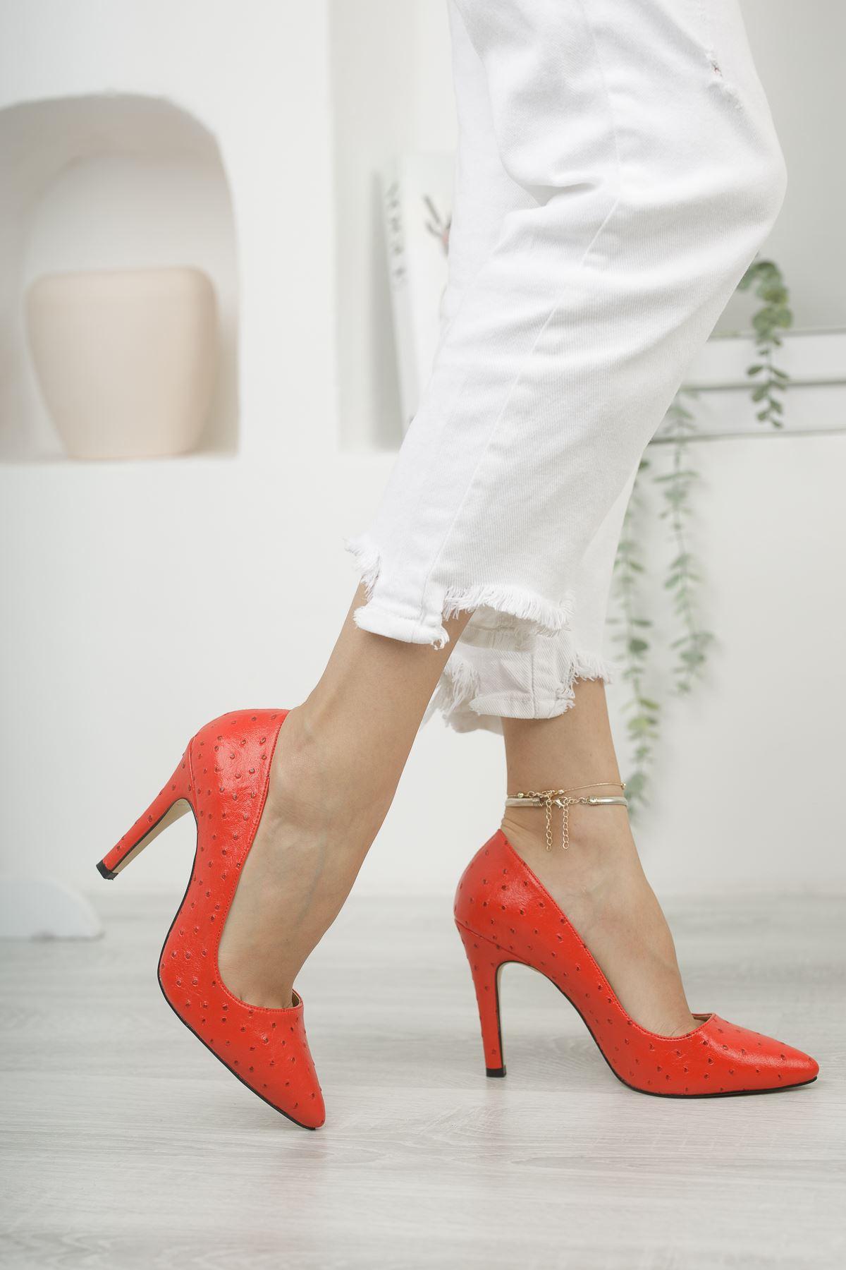 Mariam Kırmızı Yüksek Topuklu Stiletto