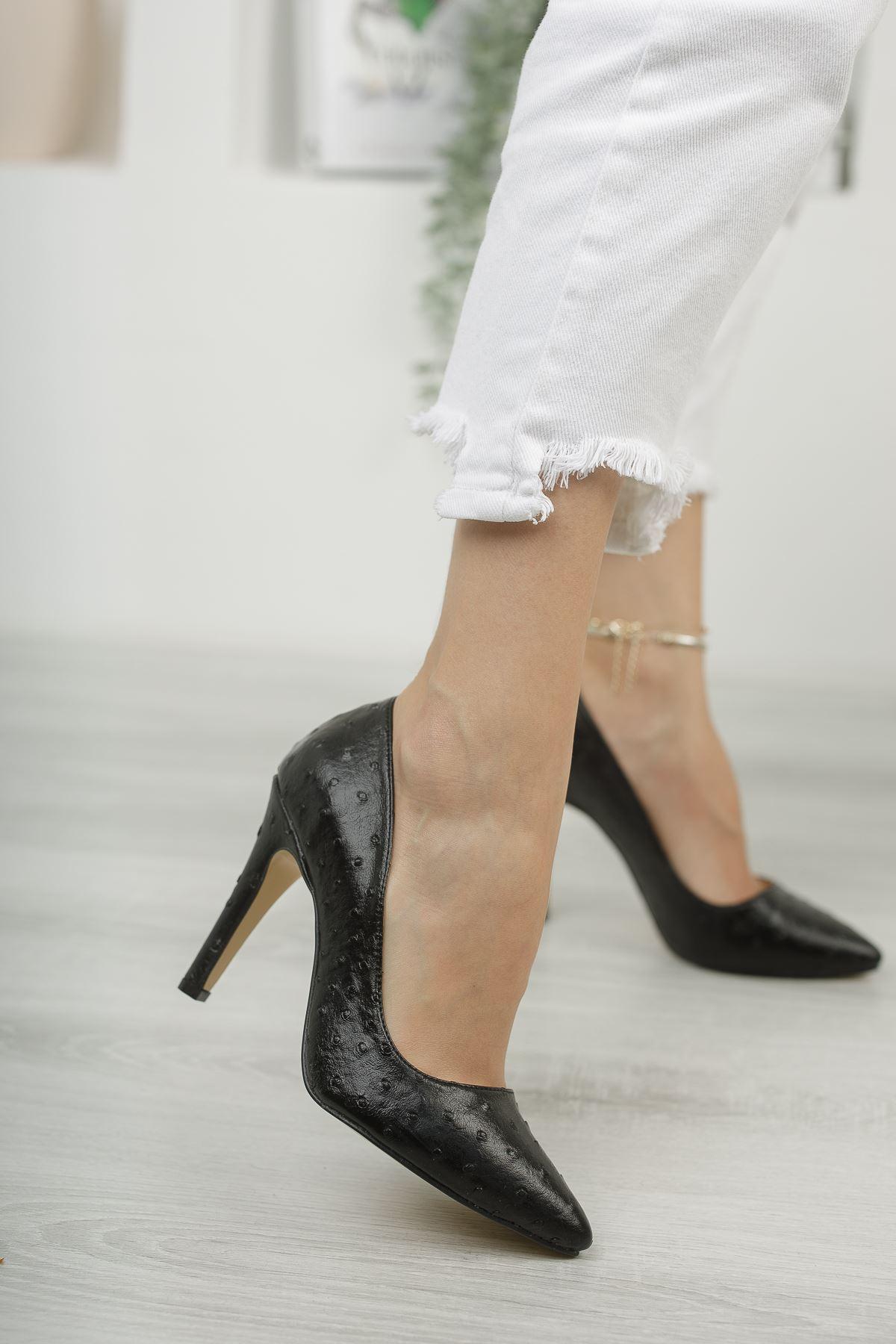 Mariam Siyah Yüksek Topuklu Stiletto