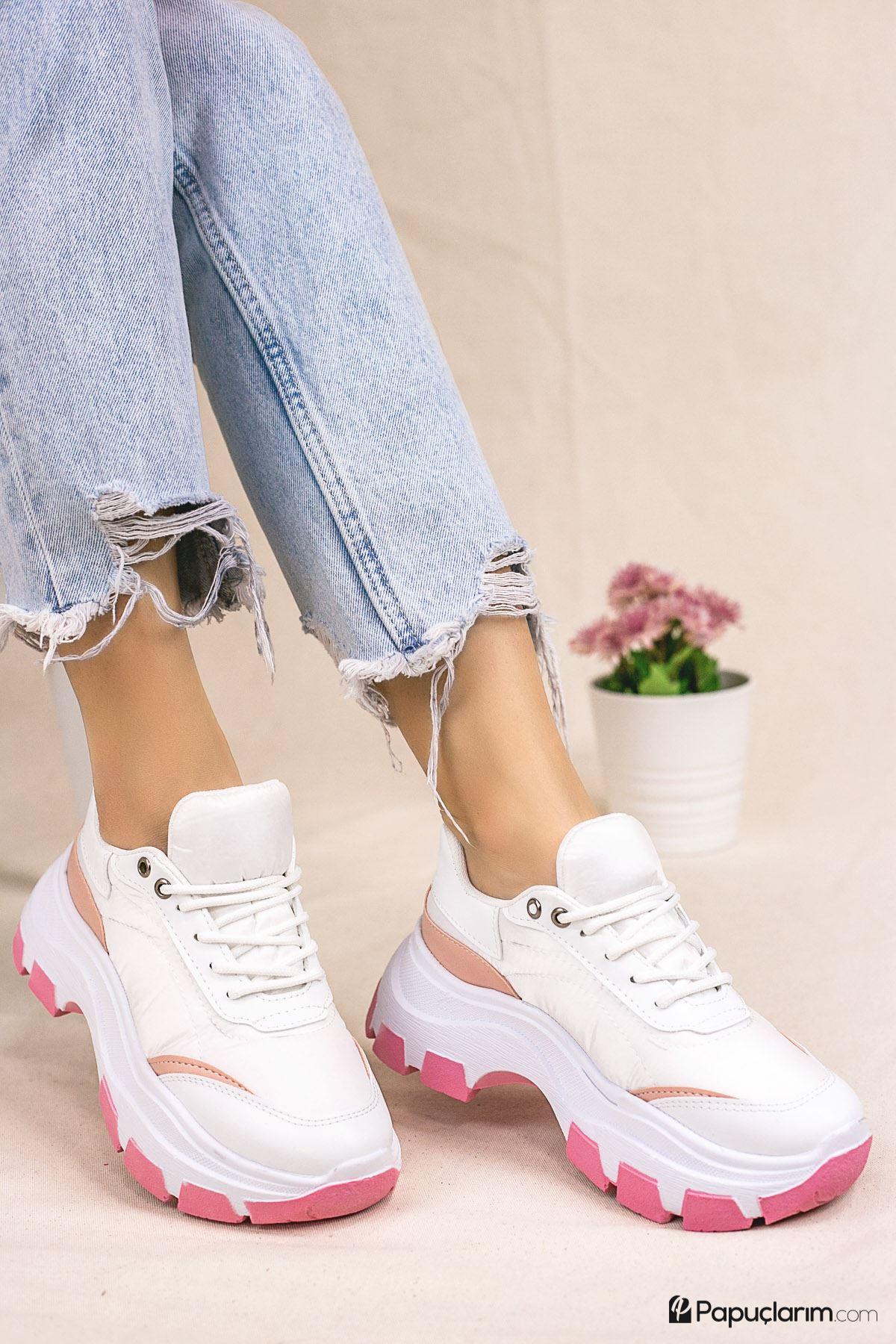 Piriya Pudra Bağcıklı Kadın Spor Ayakkabı