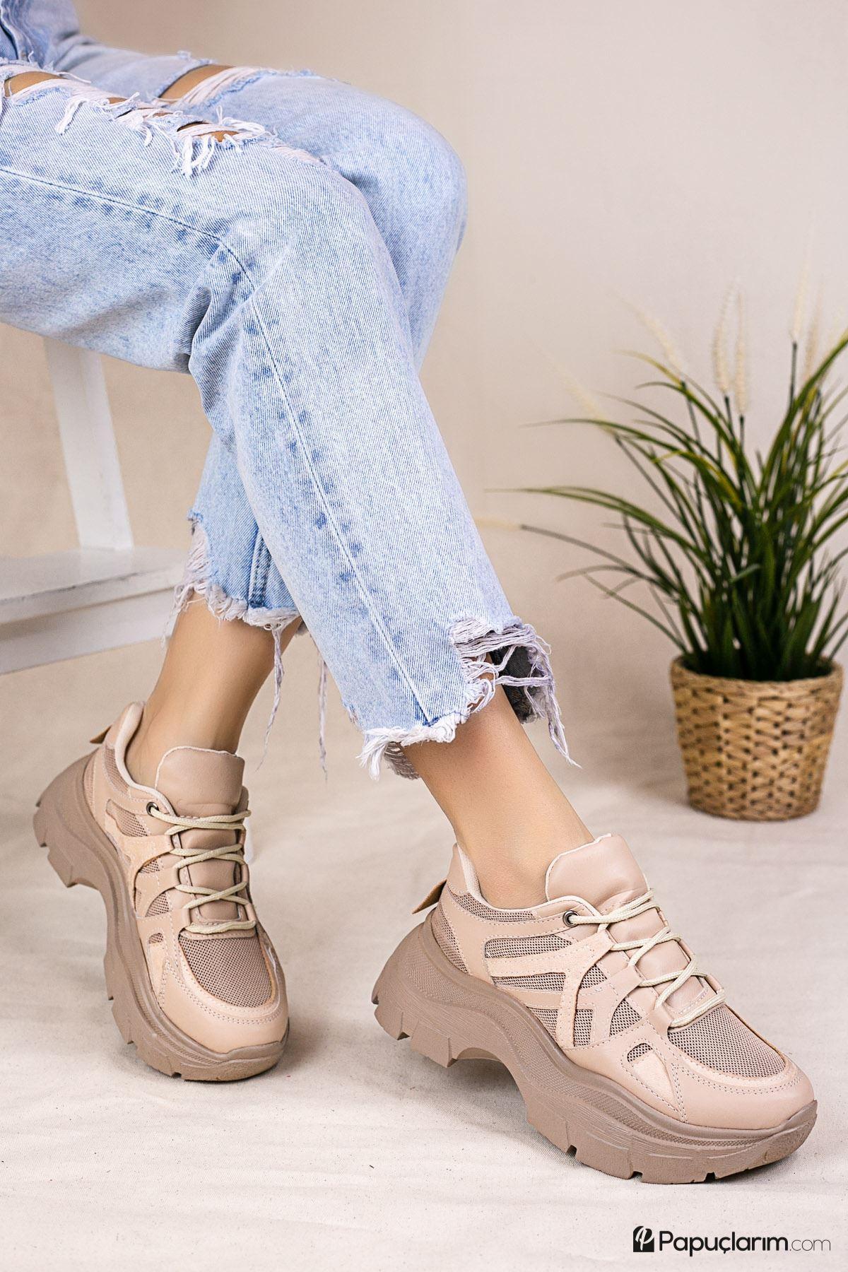 Chana Vizon Bağcıklı Kadın Spor Ayakkabı