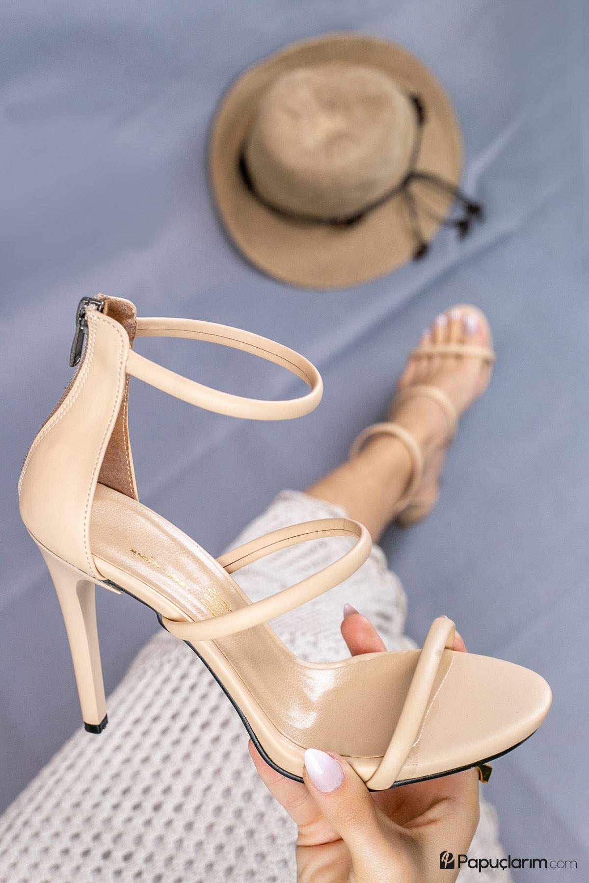 Liona Vizon Mat Deri Yüksek Topuklu Kadın Ayakkabı