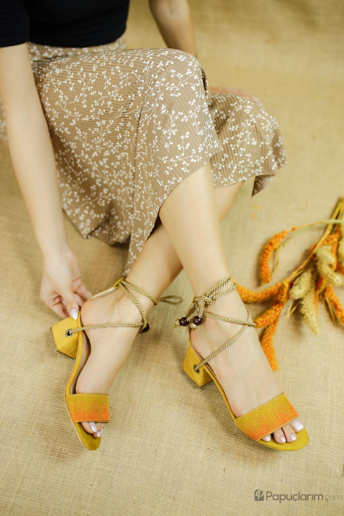 Fulvia Limon Süet Kadın Topuklu Ayakkabı