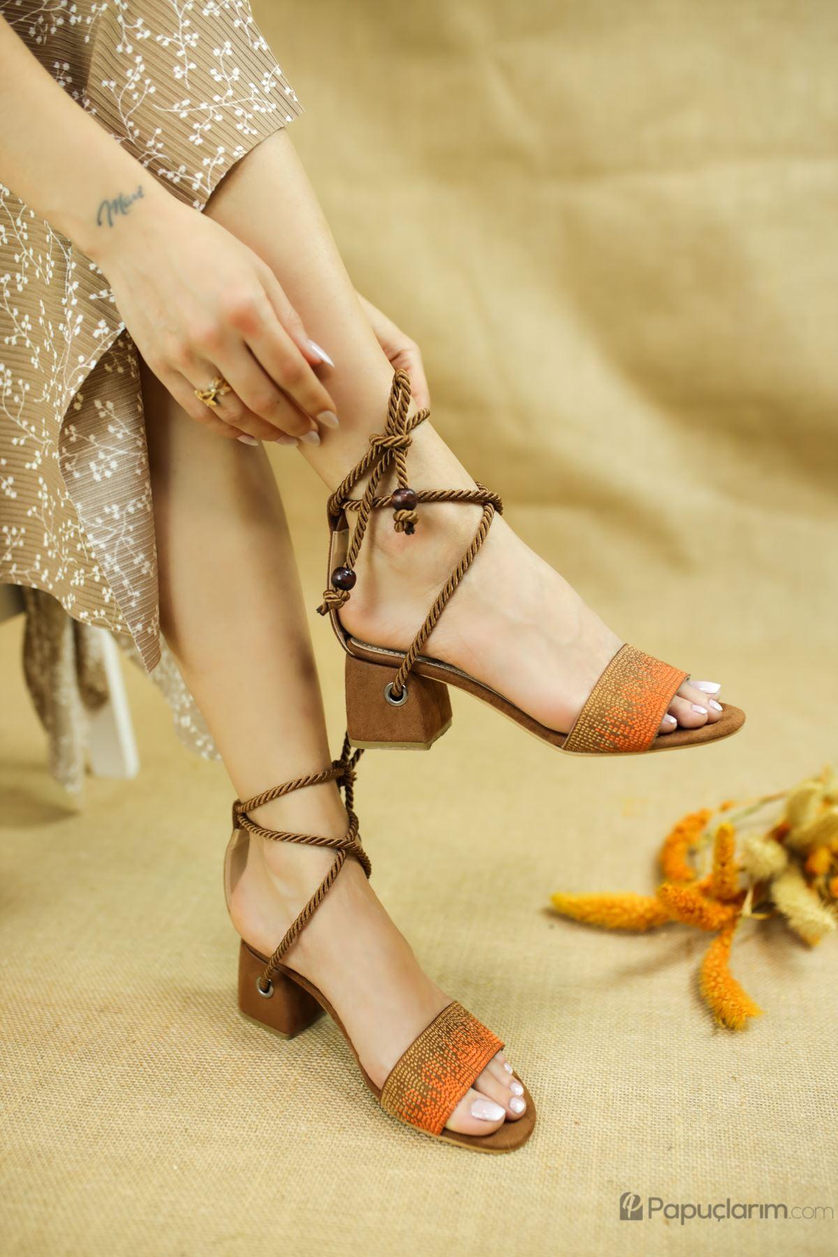 Fulvia Taba Süet Kadın Topuklu Ayakkabı