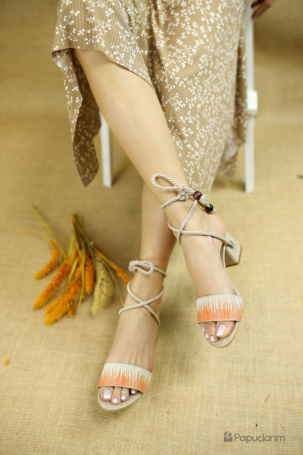 Fulvia Vizon Süet Kadın Topuklu Ayakkabı