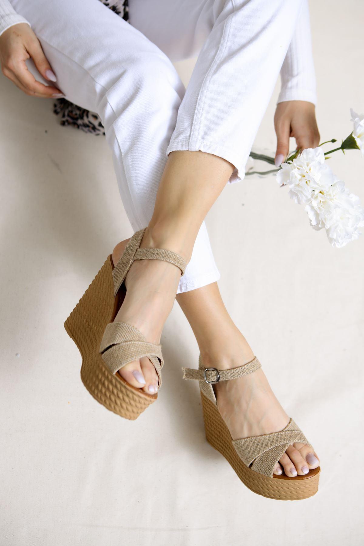 Shirley Hasır Dolgu Topuk Kadın Ayakkabı