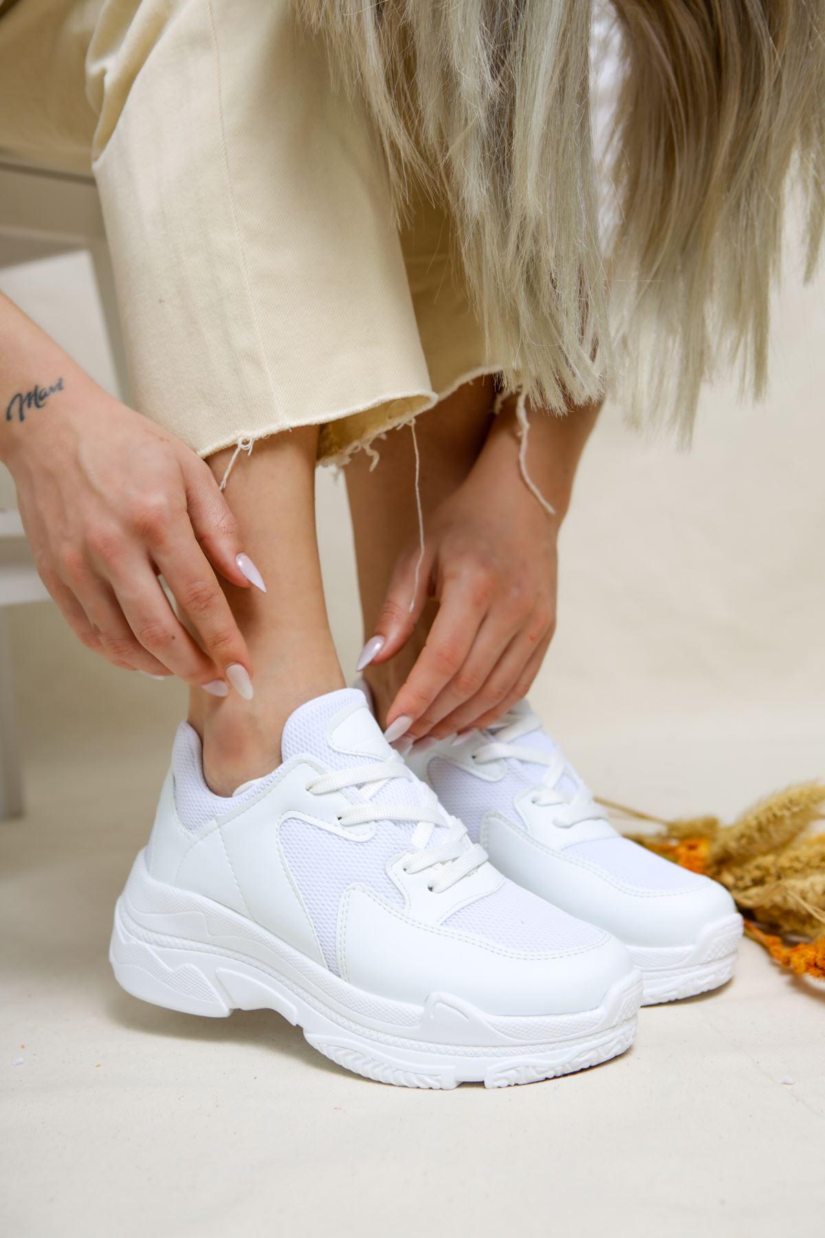 Loic Beyaz Kadın Spor Ayakkabı