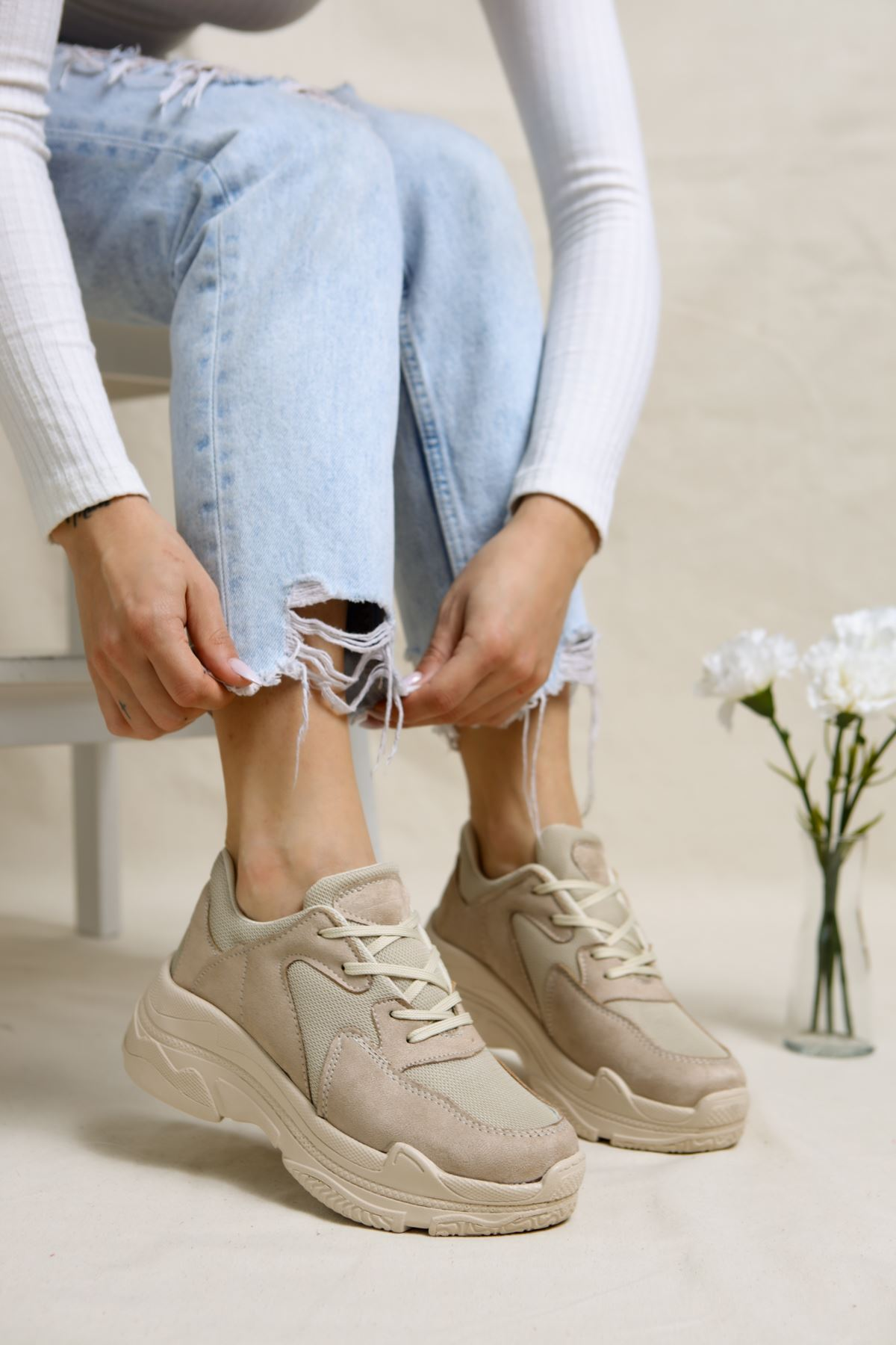 Loic Vizon Süet Kadın Spor Ayakkabı