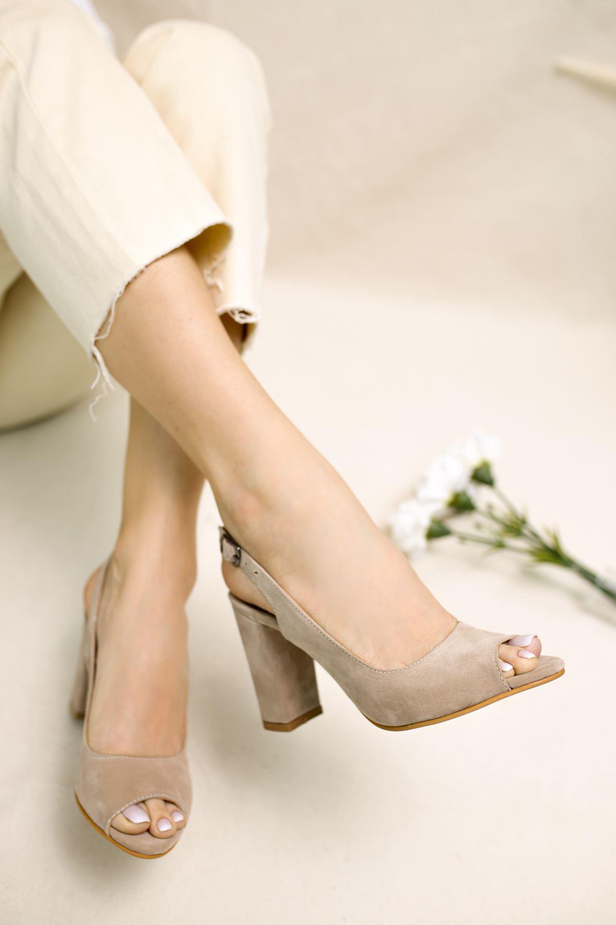 Maura Vizon Süet Kadın Topuklu Ayakkabı