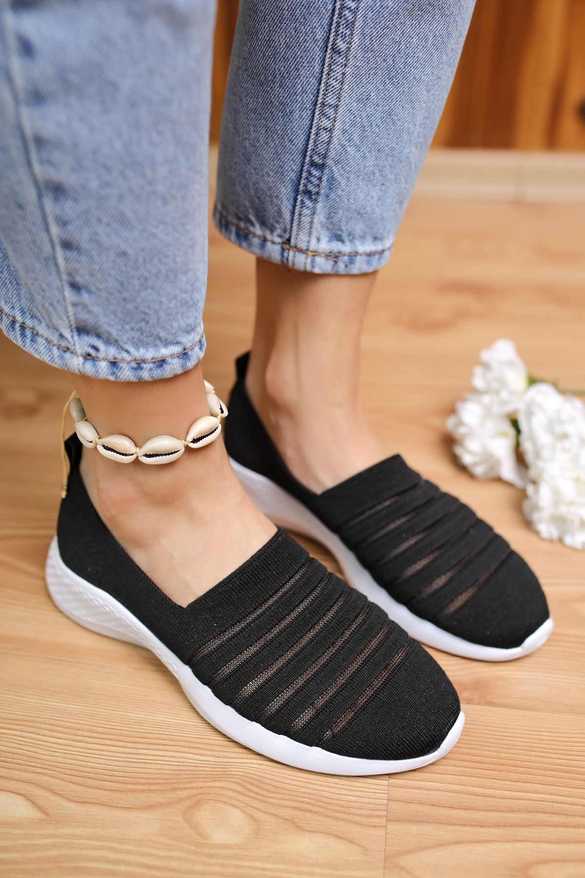 Saturn Siyah Kadın Spor Ayakkabı