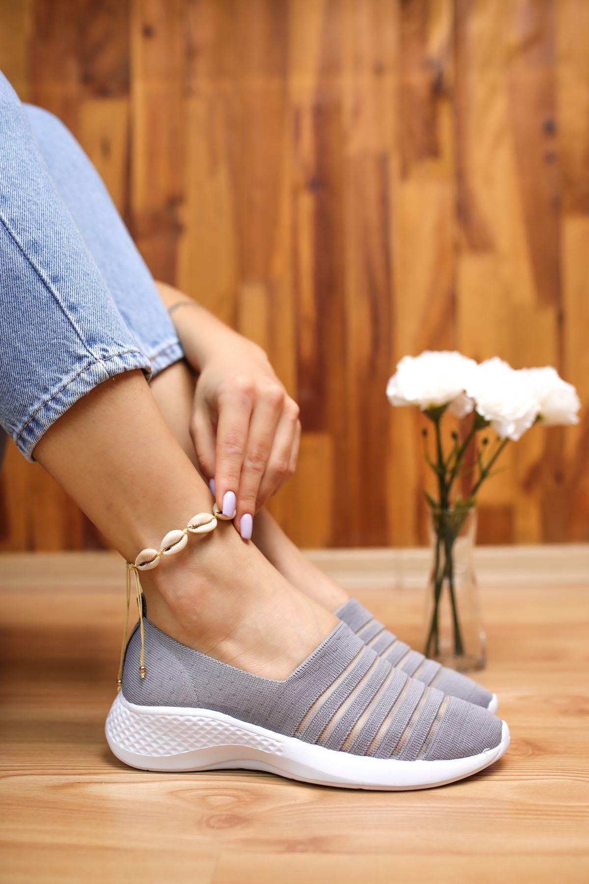 Saturn Gri Kadın Spor Ayakkabı