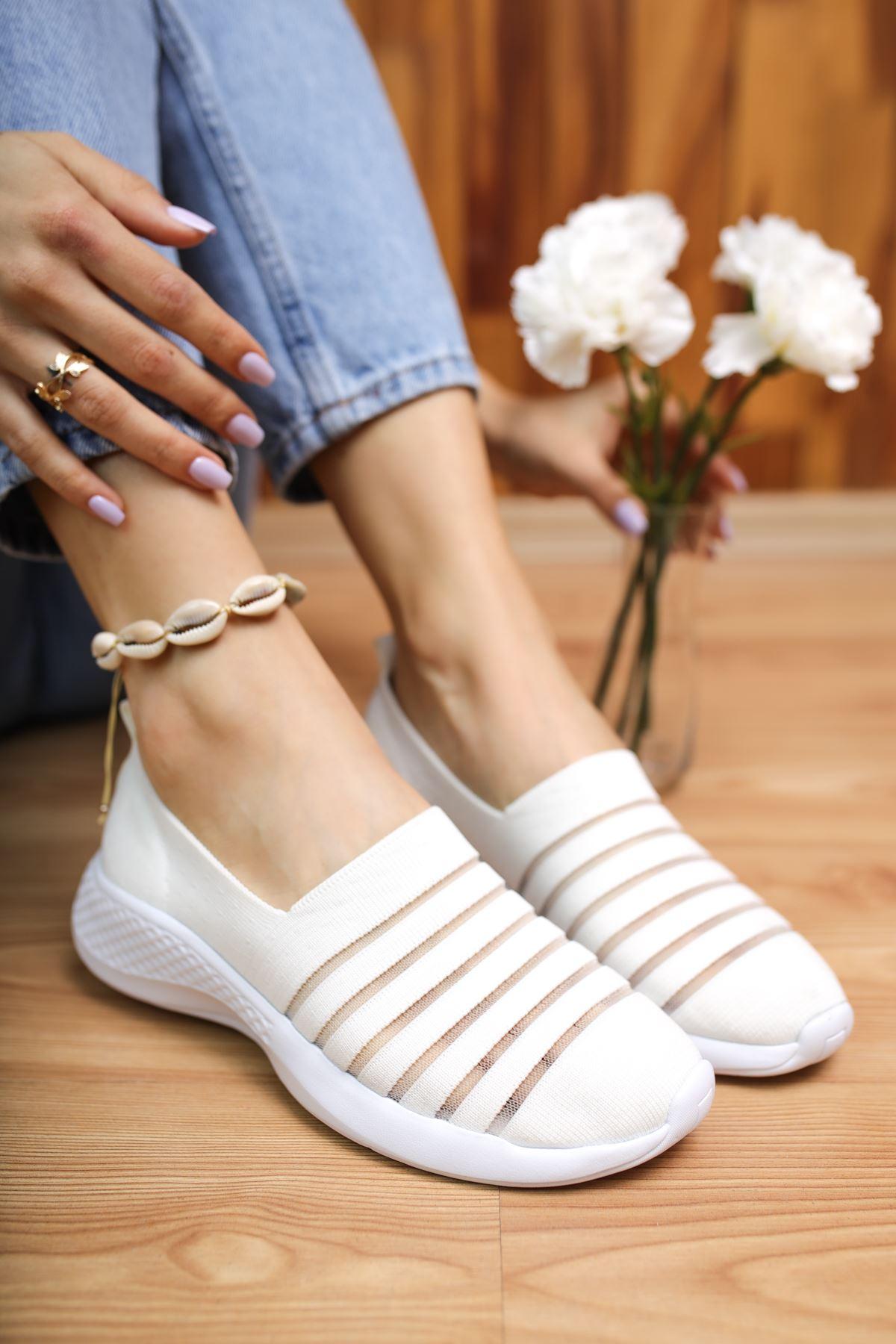 Saturn Beyaz Kadın Spor Ayakkabı