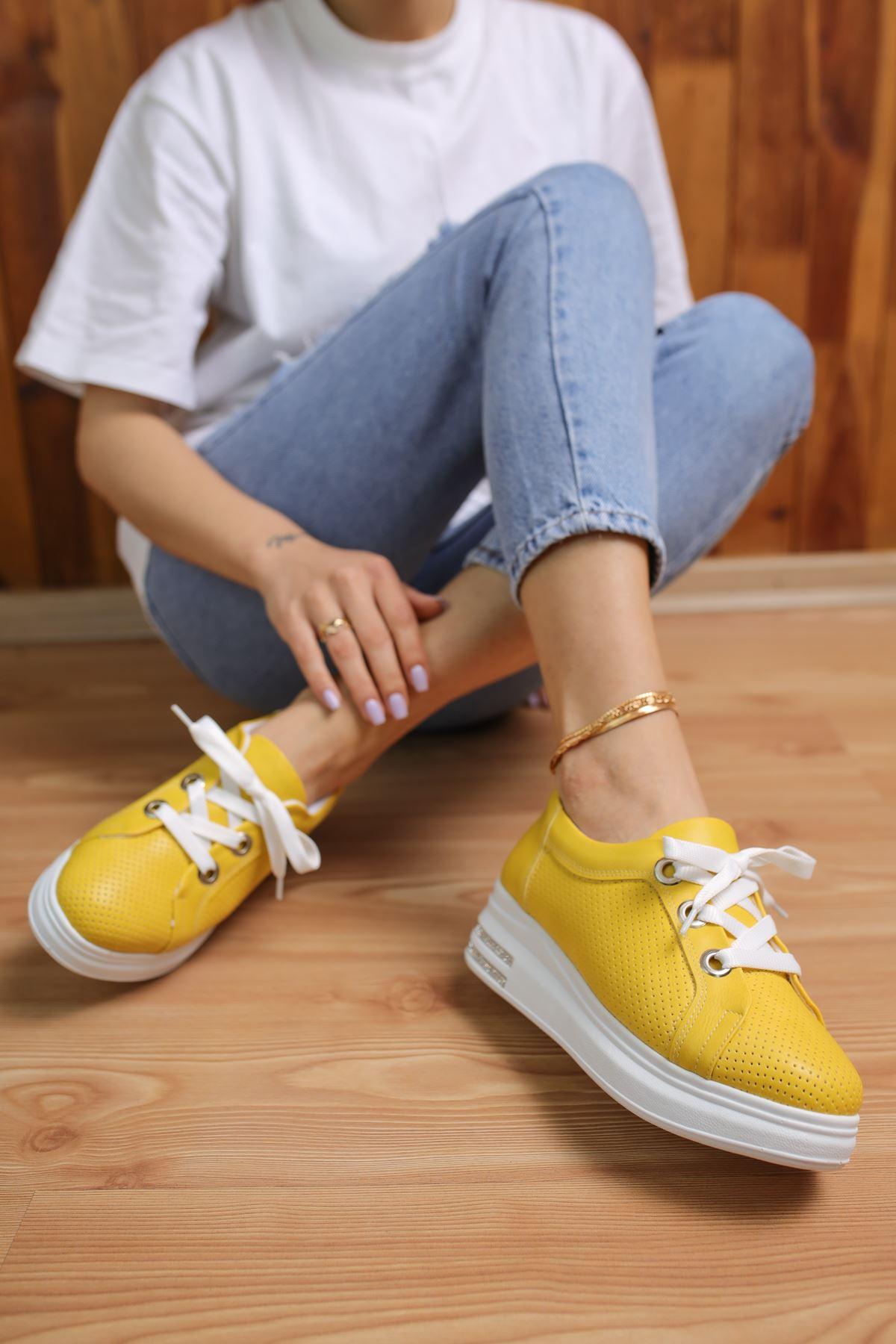 Head Limon Mat Deri Kadın Spor Ayakkabı