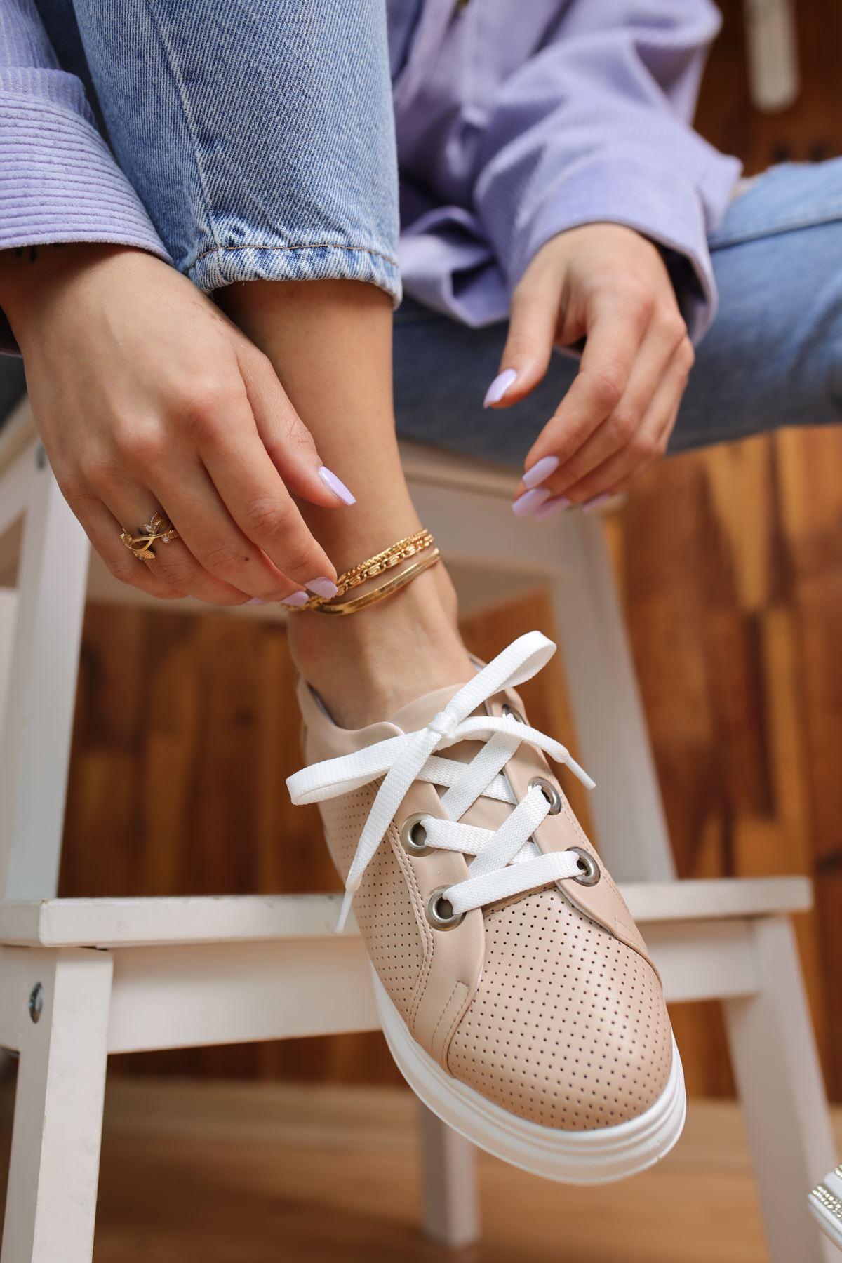 Head Vizon Mat Deri Kadın Spor Ayakkabı