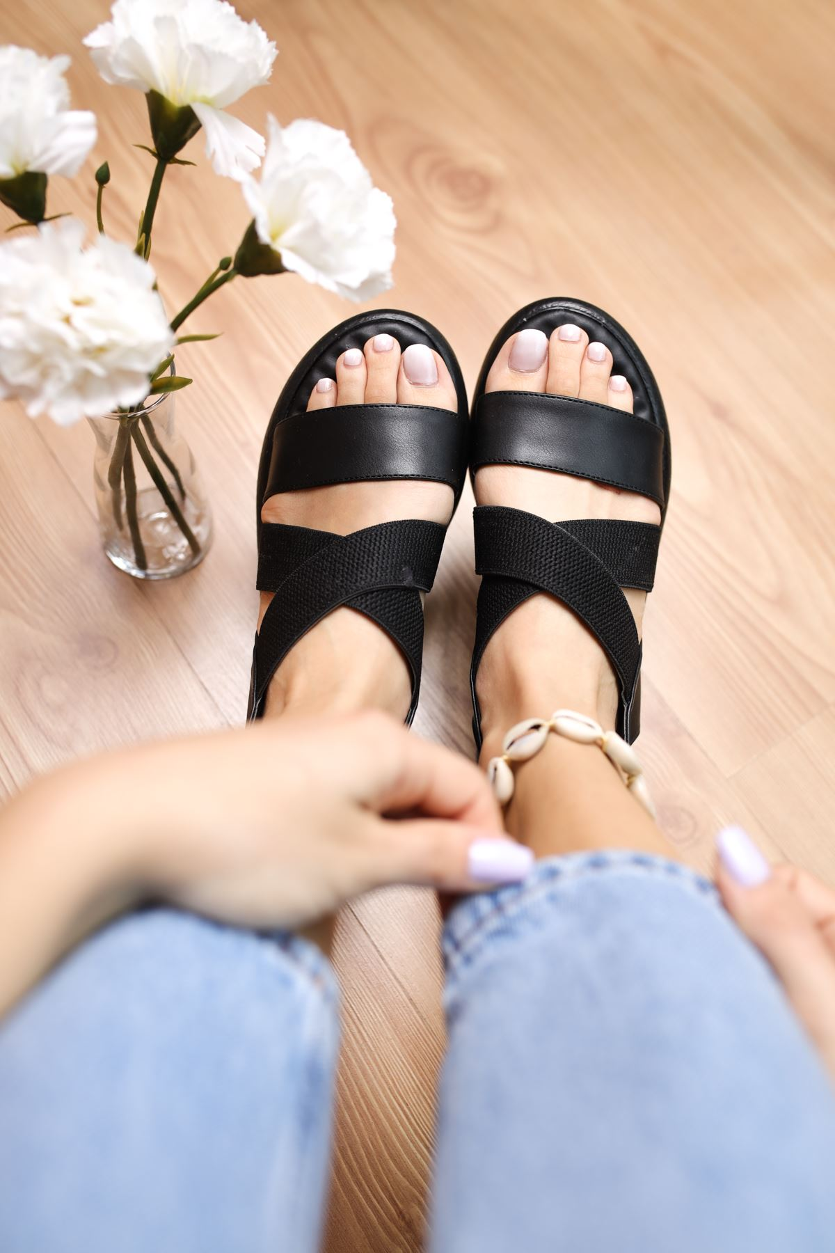 Mimi Siyah Kadın Sandalet
