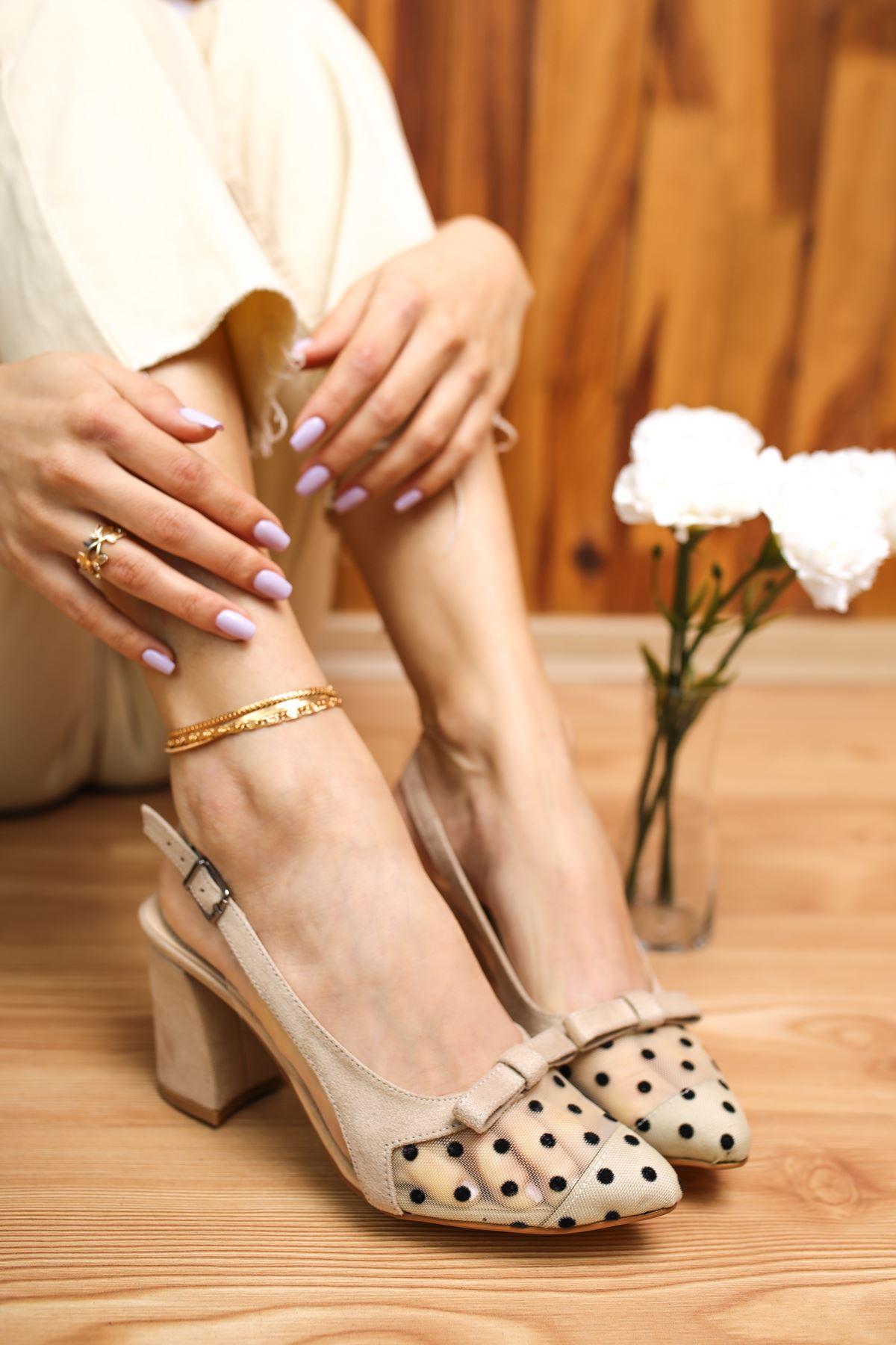 Mello Vizon Süet Kadın Topuklu Ayakkabı