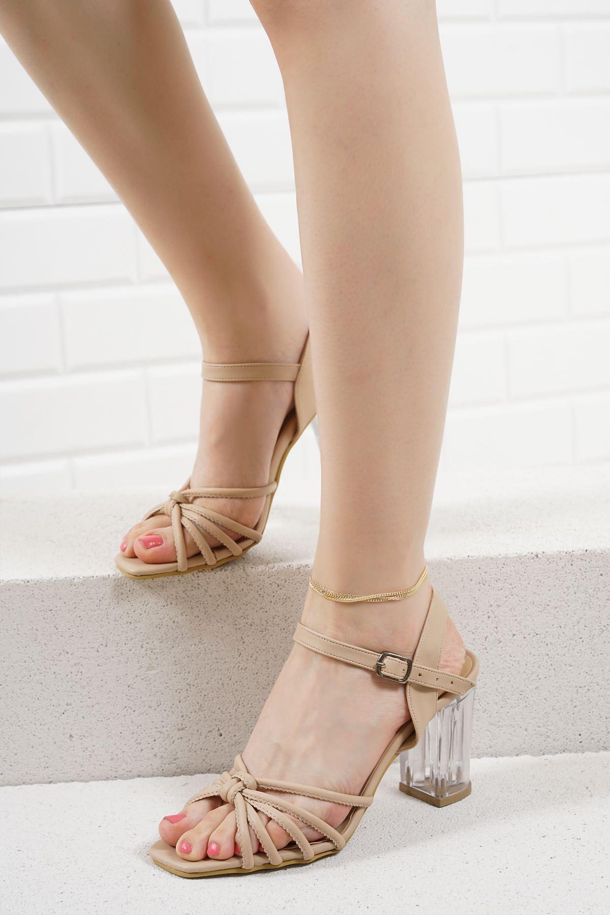 Nicole Vizon Mat Deri Kadın Topuklu Ayakkabı
