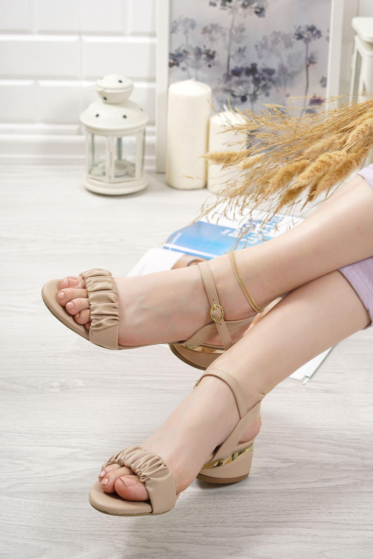 Graz Vizon Mat Deri Kadın Topuklu Ayakkabı