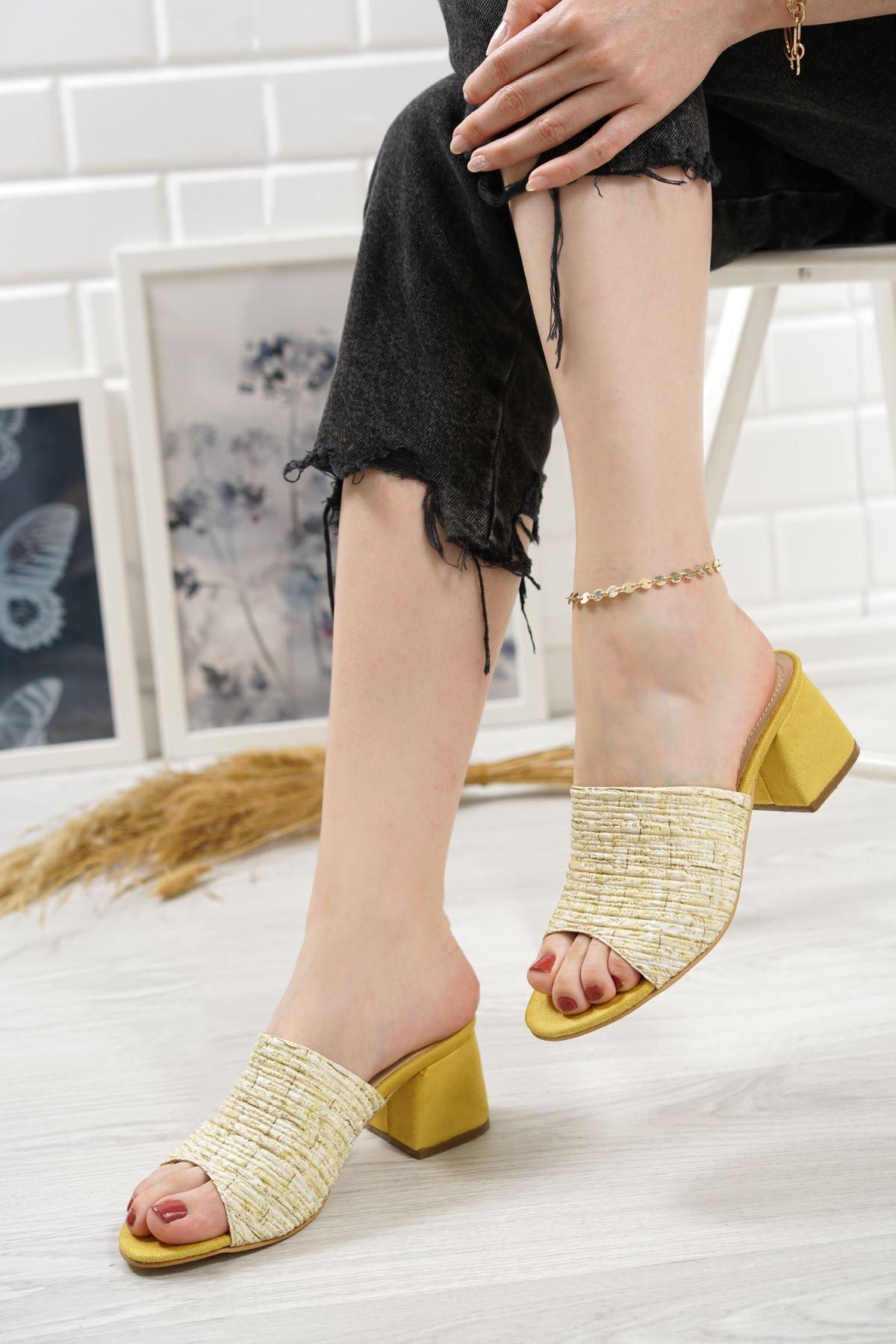 Romia Limon Topuklu Kadın Terlik