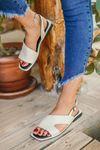 Liana Beyaz Kadın Sandalet