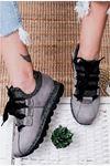 Hudson Gri Süet Kadın Spor Ayakkabı